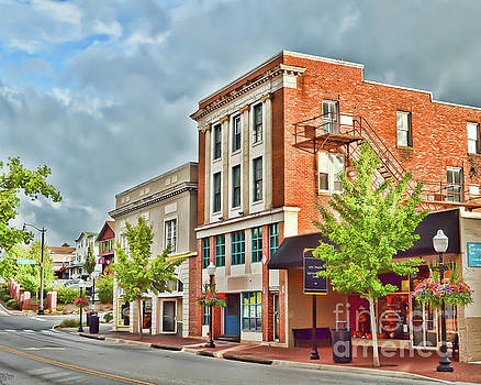 Downtown Blacksburg Buildings by Kerri Farley