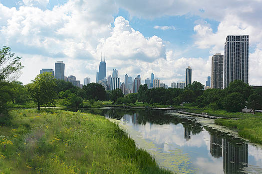 Downtown Chicago from Lincoln Park by Dennis Reagan