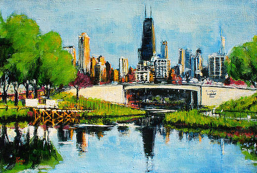 Downtown Chicago from Lincoln Park by Robert Reeves