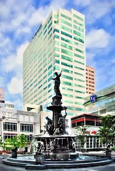 Mel Steinhauer - Downtown Cincinnati At Fountain Square