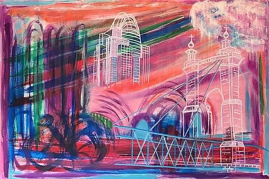 Downtown Cincinnati by Diane Pape