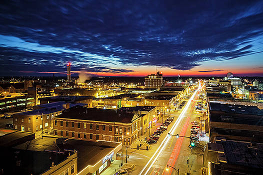 Downtown Columbia Missouri by Notley Hawkins