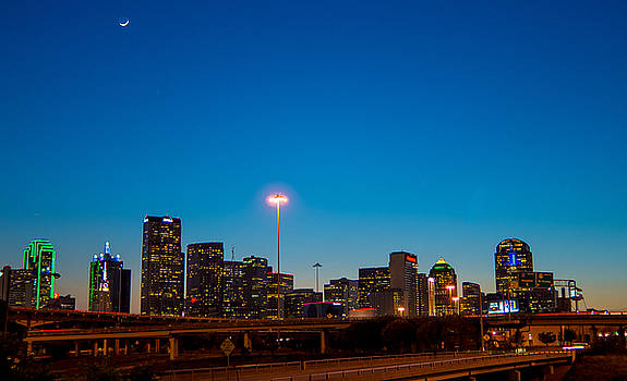 Downtown Dallas at sunset by Stephanie Johnson