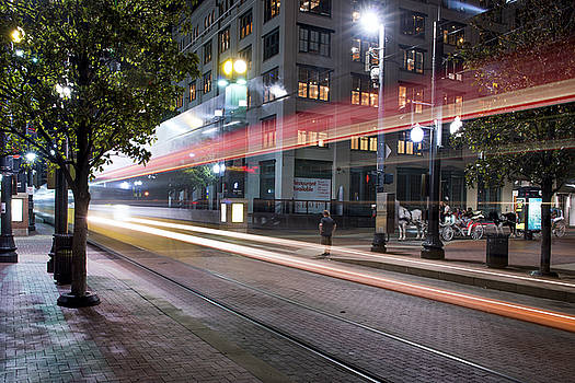 Downtown Dallas Train 080318 by Rospotte Photography