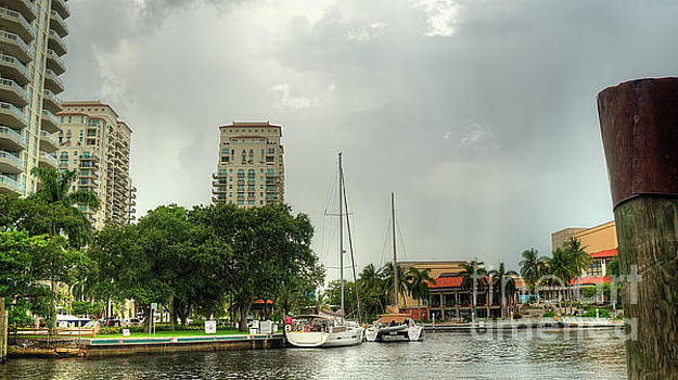 downtown Ft Lauderdale waterfront by Ules Barnwell