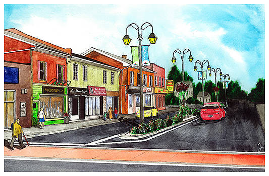 Downtown Georgetown  Main and Mill NorthEast Corner by Jonathan Baldock