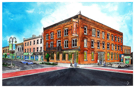Downtown Georgetown  Main and Mill SouthEast Corner by Jonathan Baldock