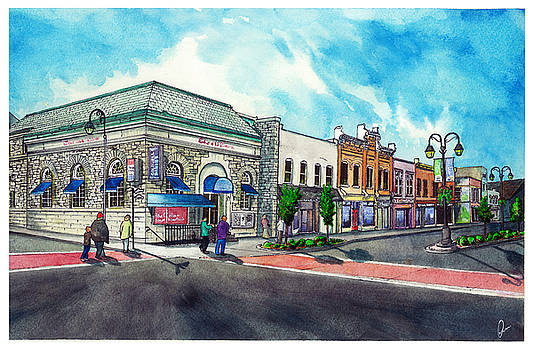 Downtown Georgetown  Main and Mill SouthWest Corner by Jonathan Baldock