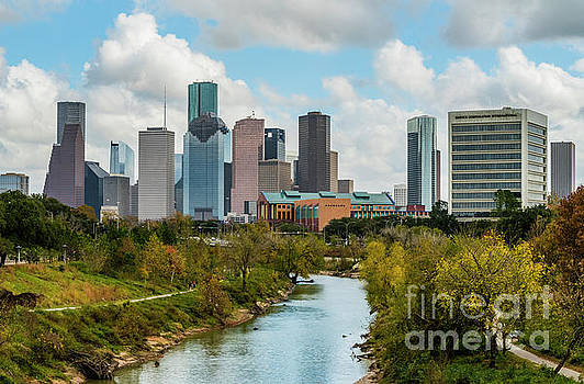 Downtown Houston Texas-Buffalo Bayou Park by Cindy Tiefenbrunn