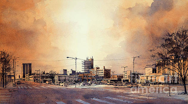 Downtown Lubbock from 14th and Buddy Holly by Tim Oliver
