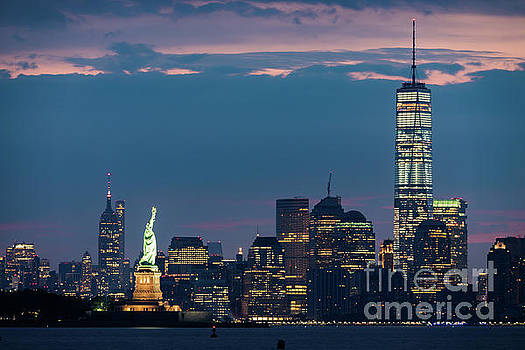 Downtown Manhattan at Dawn by Zawhaus Photography