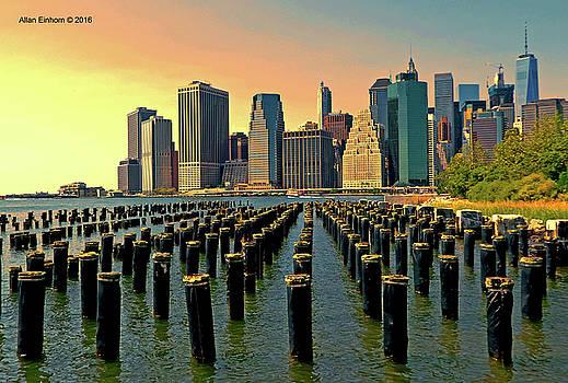 Downtown Manhattan Twilight by Allan Einhorn