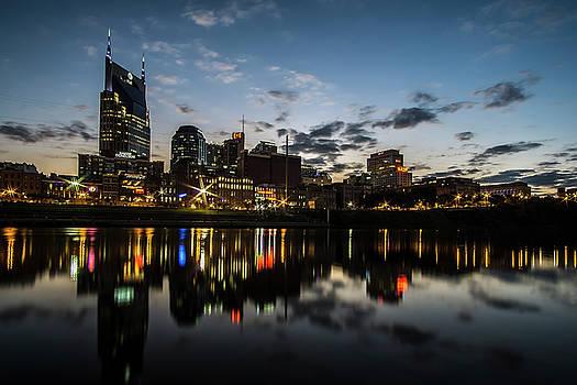Downtown Nashville at dusk  by Sven Brogren
