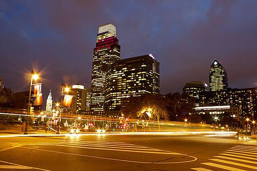 Downtown Philadelphia at Dusk by Joscelyn Paine