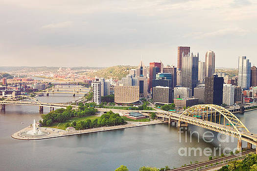 Downtown Pittsburgh Pennsylvania by Sharon Dominick