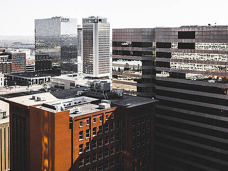 Downtown St. Louis Architecture From Rooftop by Dylan Murphy
