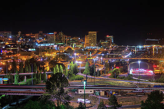 Downtown Tacoma Night by Jason Butts