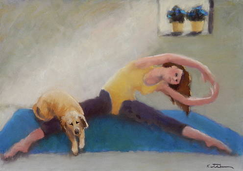 Downward Facing Dog by Carole Katchen