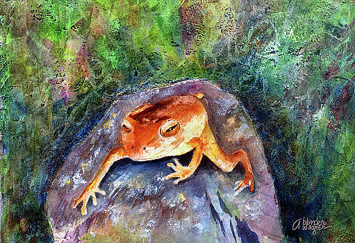 Dozing On A Rock by Arline Wagner