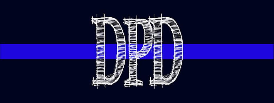 DPD Blue Line Mug by Robert J Sadler