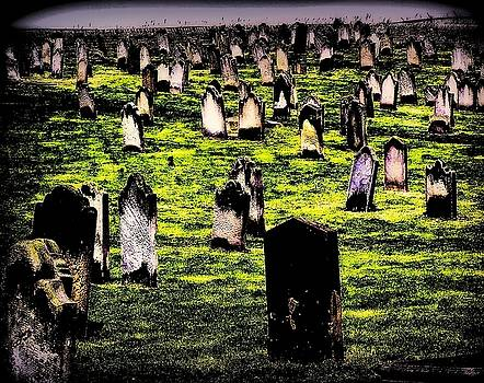 Dracula Cemetery in Whitby England by Jen White
