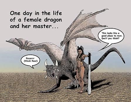Dragon and Master Comic Illustration 1 by Solomon Barroa