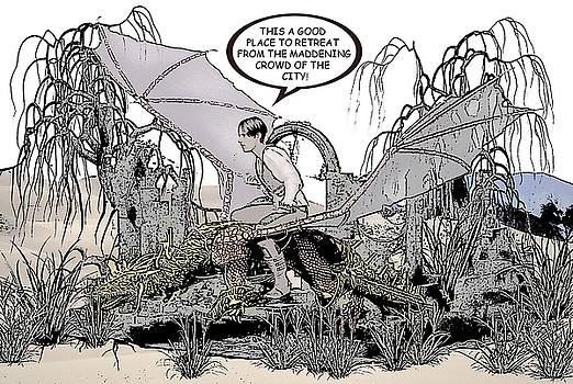 Dragon and Master Comic Illustration 2 by Solomon Barroa