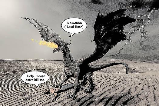 Dragon and Prey Comic Illustration by Solomon Barroa