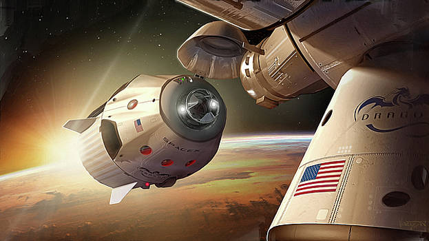James Vaughan - Dragon Arriving at ISS