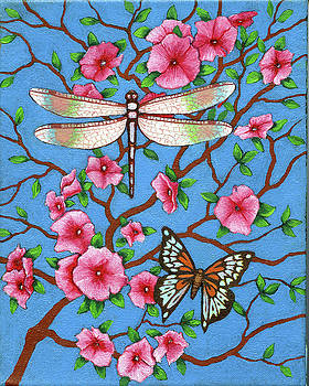 Dragon Fly and Butterfly 2 by Jane Whiting Chrzanoska