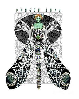 Dragon Lady White by Dia T