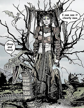 Dragon Queen Comic Illustration 1 by Solomon Barroa