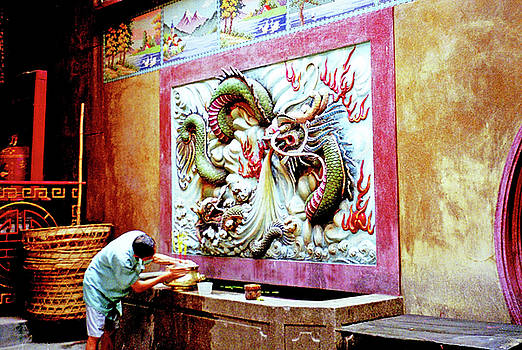 Dragon Incense Altar At Ho Chi Minh Temple by Rich Walter