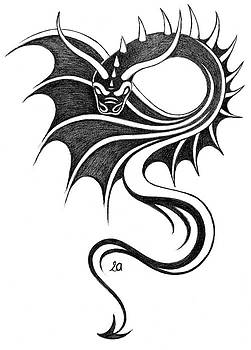 Dragon-tattoo by Erla Alberts