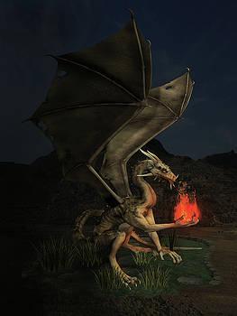Dragon with Fireball by Solomon Barroa