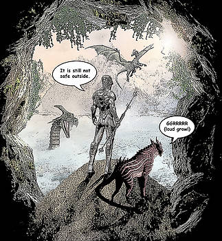 Dragon World Comic Illustration by Solomon Barroa