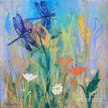 Dragonflies in Wild Garden by Robin Maria Pedrero