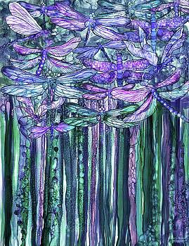 Dragonfly Bloomies 1 - Lavender Teal by Carol Cavalaris