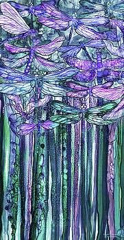 Dragonfly Bloomies 2 - Lavender Teal by Carol Cavalaris