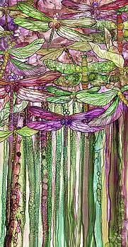 Dragonfly Bloomies 2 - Pink by Carol Cavalaris