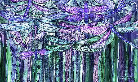 Dragonfly Bloomies 3 - Lavender Teal by Carol Cavalaris