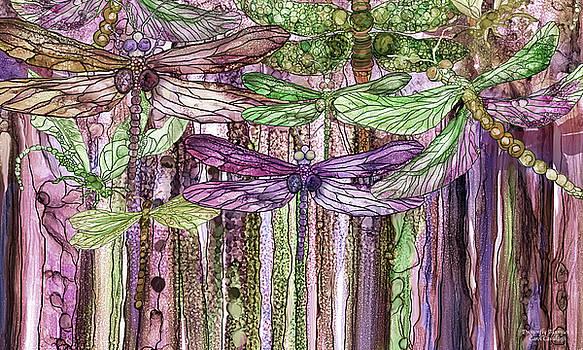Dragonfly Bloomies 3 - Pink by Carol Cavalaris