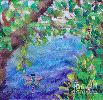 Peggy Johnson - Dragonfly Lake - Miniature Painting