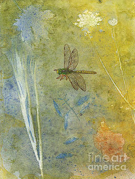 Dragonfly with Plant Impressions by Conni Schaftenaar