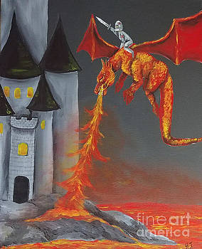 Dragons castle by Heather James