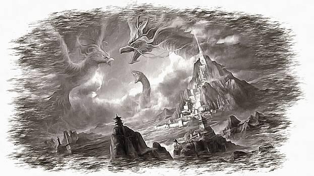 Dragons Over Mordor by Mario Carini