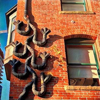 Drains on Brick by Richard Hinds