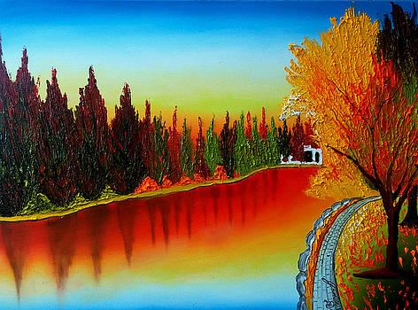 Drake Park At Dusk #6 by Portland Art Creations