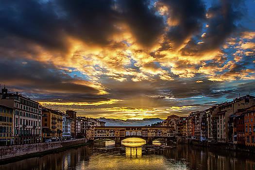 Drama over Ponte Vecchio by Andrew Soundarajan