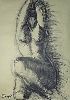 Dramatic 3 - Female Nude  by Carmen Tyrrell